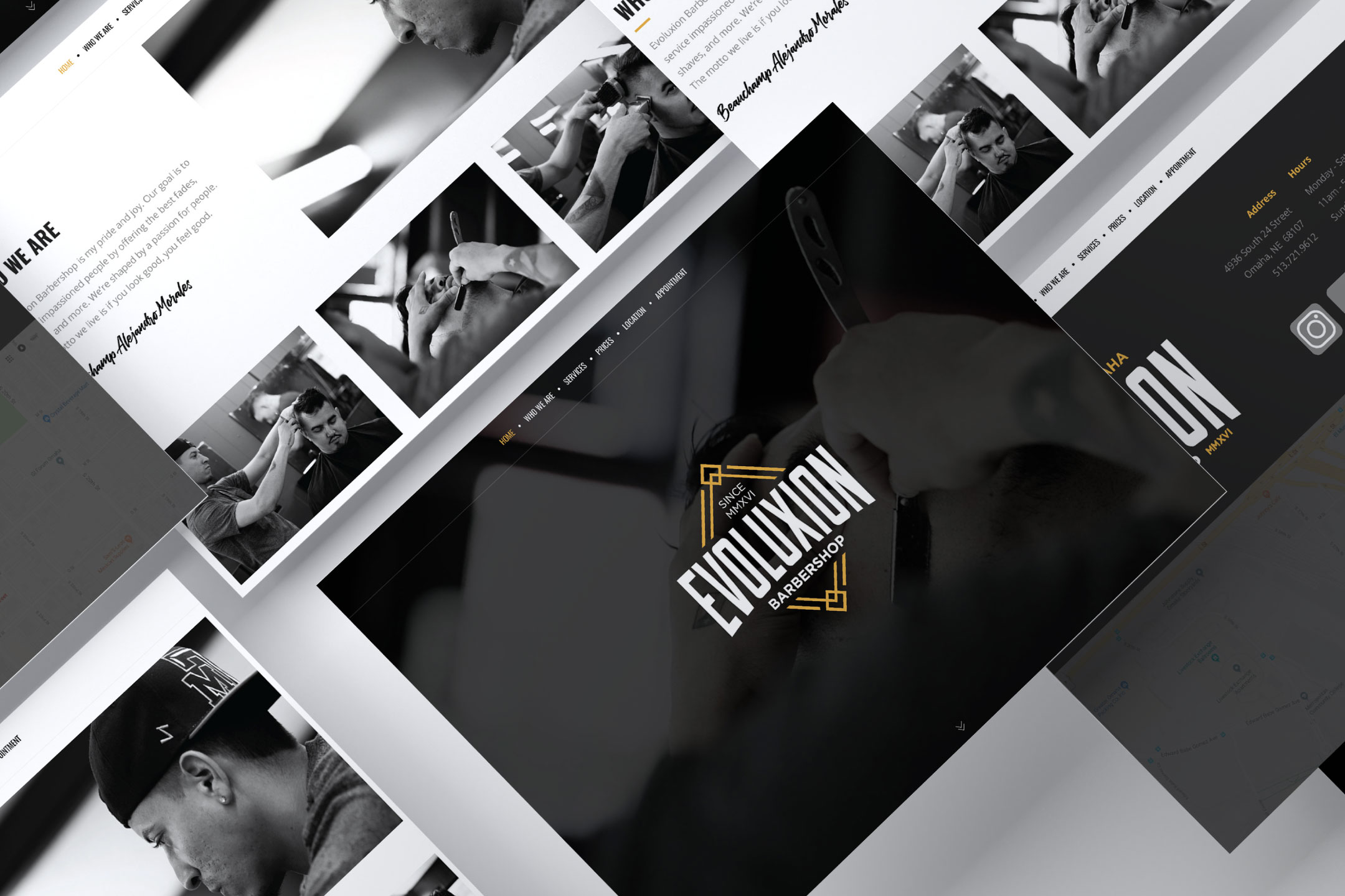 Evoluxion Barbershop Website